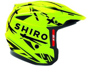 Shiro helmet K-12 Trial Yellow Fluo 54-XS