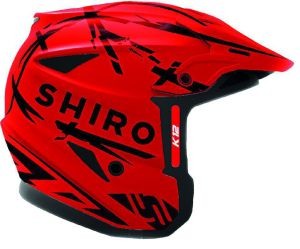 Shiro helmet K-12 Trial Red Fluo 58-M