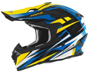 Jopa Helmet HUNTER Legacy Blue-Yellow 56-S