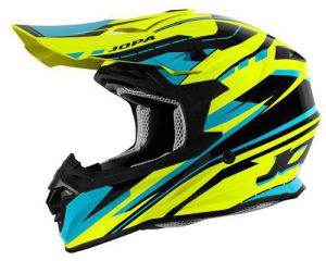 Jopa Helmet HUNTER Revolt Fluo Yellow-Blue 60-L