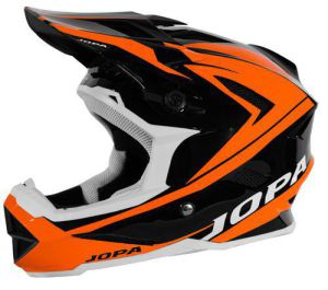 Jopa BMX-Helmet Flash Black-Orange Fluo 59-60 L
