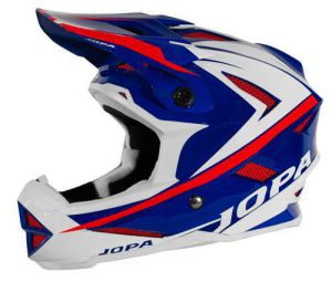 Jopa BMX-Helmet Flash Blue-White-Red 57-58 M