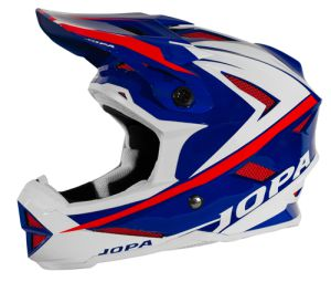 Jopa BMX-Helmet Flash Blue-White-Red 55-56 S