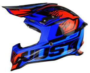 JUST1 Helmet J12 Dominator Blue-Red 56-S