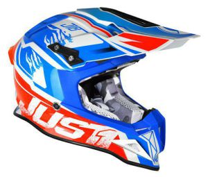 JUST1 Helmet J12 Dominator White-Red-Blue 60-L