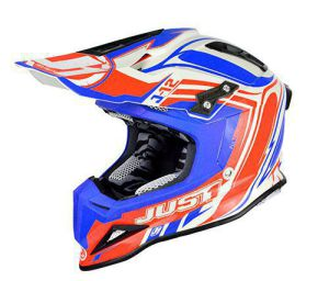 JUST1 Helmet J12 Flame Red-Blue 60-L