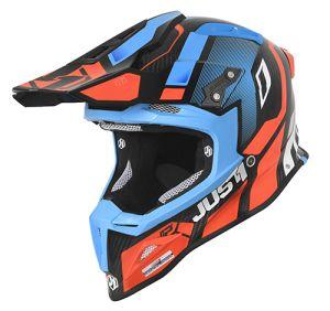 JUST1 Helmet J12 PRO Vector Orange-Blue Carbon 54-XS