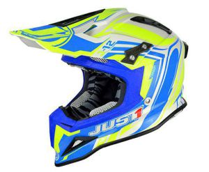 JUST1 Helmet J12 Flame Yellow-Blue 56-S