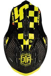 JUST1 Helmet J12 PRO Racer Fluo Yellow-Carbon 54-XS