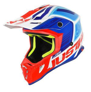 JUST1 Helmet J38 Blade Blue-Red-White Helmet 54-XS