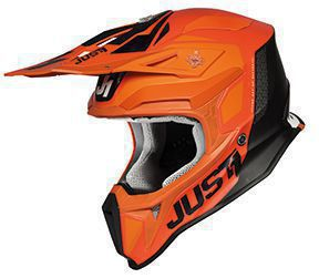 JUST1 Helmet J18 Pulsar Orange-White-Black 54-XS