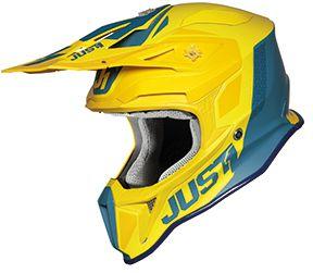 JUST1 Helmet J18 Pulsar Yellow-Blue 54-XS