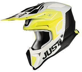 JUST1 Helmet J18 Pulsar Fluo Yellow-White-Black 54-XS