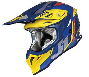 JUST1 Helmet J39 Reactor Yellow-Blue 54-XS