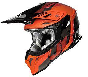 JUST1 Helmet J39 Reactor Fluo Orange-Black 54-XS