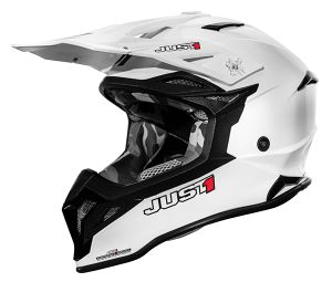 JUST1 Helmet J39 Solid White 54-XS