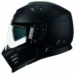 Simpson Helmet Venom Matt Black (MS) 54-XS