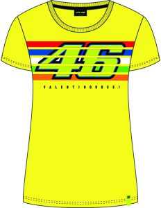 VR46 (VRWTS352501) T-shirt Lady 2019-Stripes Yellow XL