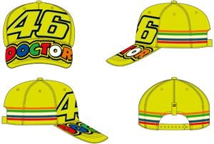 VR46 Cap (VRMCA305028) Stripes Yellow