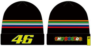 VR46 (VRMBE305104) Beanie Rossi Black-Stripes