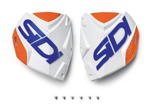 Sidi CF2 shin plate White-Orange Fluo-Blue (132)