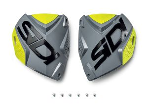 Sidi CF2 shin plate Grey-Yellow Fluo (132)