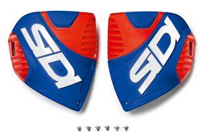 Sidi CF3 shin plate Blue-Red Fluo (153)