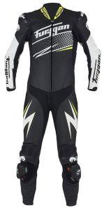 Furygan 6540-122 Leather suit Full Ride Black-White-Yellow 48