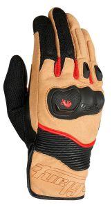 Furygan 4544-255 Dust Gloves D3O Sand-Black-Red 3XL