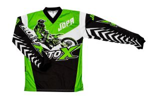 Jopa MX-Jersey Moto-X-Kids Green 128