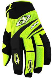 MX-4 Gloves Kids Black-Yellow Fluo 2