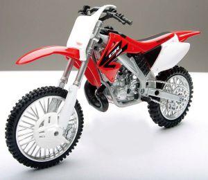 Miniatuur motor cross Honda 1:12
