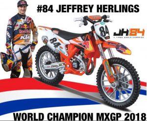 Miniatuur Motor 1:18 KTM Jeffrey Herlings #84