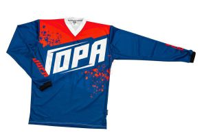 Jopa MX-Jersey 2020 Charge Navy-Warm Red 140