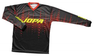 Jopa MX-Jersey 2021 Lithium Grey/Red/Yellow Fluo XS