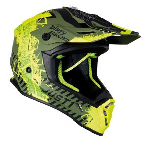 JUST1 Helmet J38 Mask Fluo Yellow/Black/Army Green 56-S