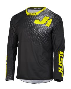 JUST1 MX-Jersey J-FORCE Adult Lighthouse Grey-Yellow Fluo (S)