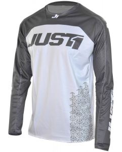 JUST1 MX-Jersey J-FORCE Adult Terra White-Grey (S)