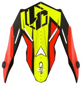 JUST1 Spare Parts J38 Peak Blade Black-Yellow-Red-Blue
